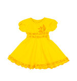 Baby yellow dress isolated on white background stock photos