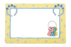 Baby Yellow Patterned Border Stock Photos