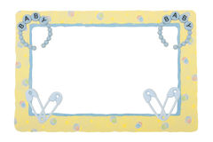 Baby Yellow Patterned Border Stock Image