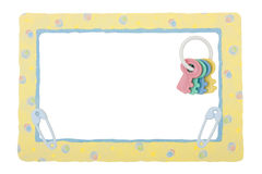 Baby Yellow Patterned Border royalty free stock photo
