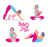 Baby yoga set Royalty Free Stock Image
