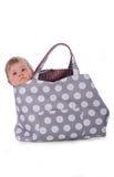 Baby in zak Royalty-vrije Stock Afbeelding