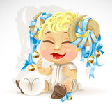 Baby zodiac - sign Aries Stock Image