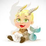 Baby zodiac - sign Capricorn Royalty Free Stock Images