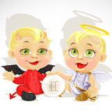 Baby zodiac - sign Gemini Stock Photo