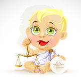 Baby zodiac - sign Libra Royalty Free Stock Image
