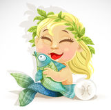Baby zodiac - sign Pisces Royalty Free Stock Photos