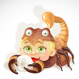 Baby zodiac - sign Scorpio Stock Images