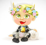 Baby zodiac - sign Taurus Royalty Free Stock Image