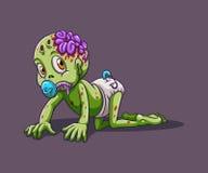 Baby zombie crawling alone Stock Image