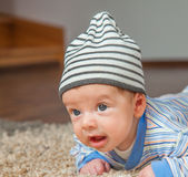Baby zu Hause Stockfoto