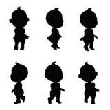 Baby zwart pictogram Royalty-vrije Stock Foto's
