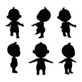 Baby zwart pictogram Royalty-vrije Stock Afbeeldingen