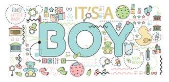 Babyaankondiging vector illustratie