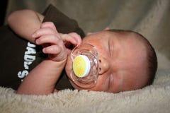 Babyakne Stockfoto