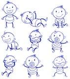 Babyaktionen Stockbild