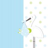 Babyankunfts-Ansagenkarte Lizenzfreies Stockfoto