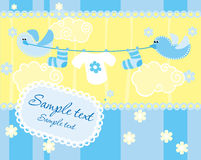 Babyankunfts-Ansagenkarte Stockfotos
