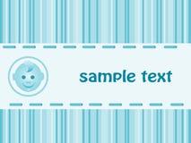 Babyankunfts-Ansagenkarte. Lizenzfreies Stockbild