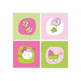 Babyankunfts-Ansagenkarten Stockfotos