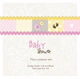Babyankunftskarte - Babypartykarte Stockfotos