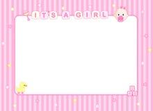 Babyankunftskarte/Hintergrund Stockfoto