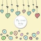 Babyankunftskarten-Duscheinladung Lizenzfreie Stockfotografie