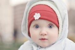 babyansikteflicka Arkivfoton