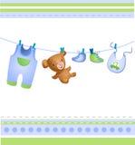 babyboy gard hälsning stock illustrationer