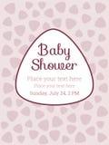Babydouche, het malplaatje van de de uitnodigingskaart van de Verjaardagspartij Stock Foto