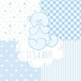 Babydouche: jongen Royalty-vrije Stock Afbeeldingen