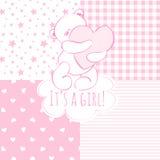 Babydouche: meisje Stock Foto's