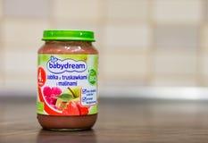 Babydream baby food jar Stock Image