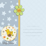 Babyduschekarte Stockbilder