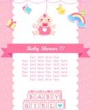 Babyduschsorgfalt mit Platz für Ihren Text Stockbilder