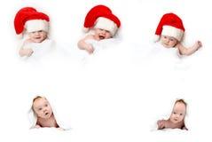 Babyes em tampões vermelhos Foto de Stock Royalty Free
