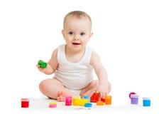 Babyfarbe durch seinen praktischen weißen Hintergrund Lizenzfreies Stockfoto