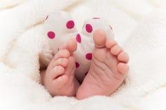 Babyfeet avec le coeur Images libres de droits