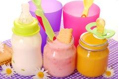 babyfood Fotografering för Bildbyråer
