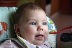 babyfoodtid Arkivbild