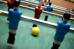 Babyfoot team. Retro child toy Royalty Free Stock Images