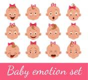 Babygesichtsausdruck lizenzfreie abbildung