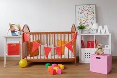 babygirl的时髦的室 库存照片