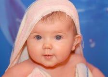 Babygirl após o banho Imagens de Stock Royalty Free