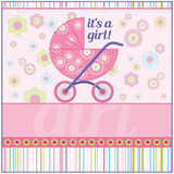 Babygirl card Stock Image