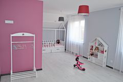 Babygirl room/ Princess Room/  children room stock photo