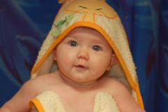 babygirlbad Royaltyfri Fotografi
