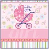 Babygirlkaart Stock Afbeelding