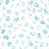 Babygoederen Patroon van de pictogrammen van babygoederen Kinderen vlakke pictogrammen Royalty-vrije Stock Afbeeldingen