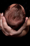 Babyhitze in der Hand Stockfotos